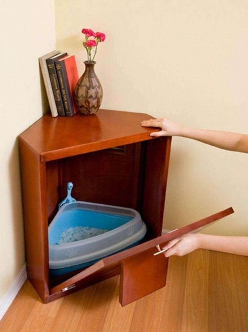 astucieux meuble liti re. Black Bedroom Furniture Sets. Home Design Ideas