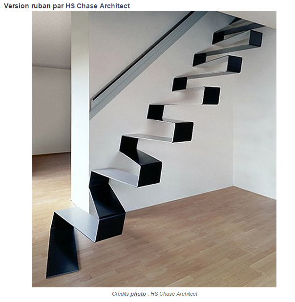 l 39 escalier ruban original. Black Bedroom Furniture Sets. Home Design Ideas