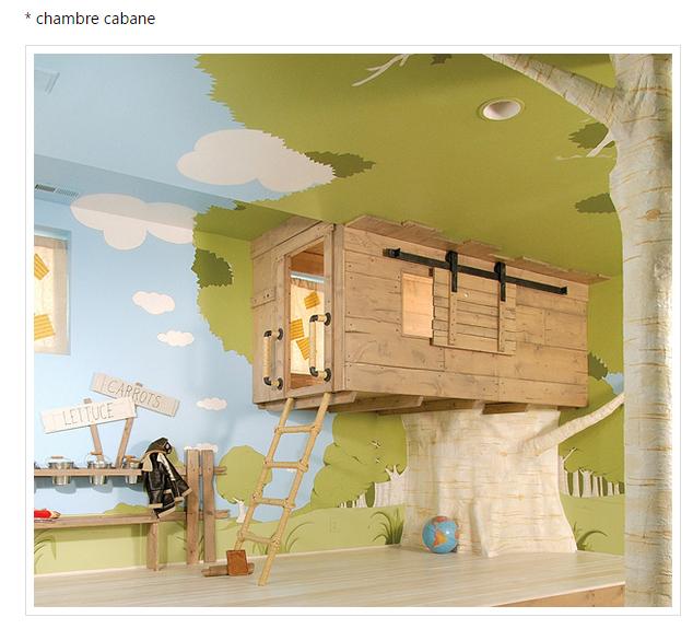 chambre d 39 enfant cabane. Black Bedroom Furniture Sets. Home Design Ideas