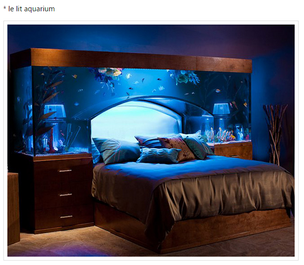 le lit aquarium pour r ver de la grande bleue. Black Bedroom Furniture Sets. Home Design Ideas
