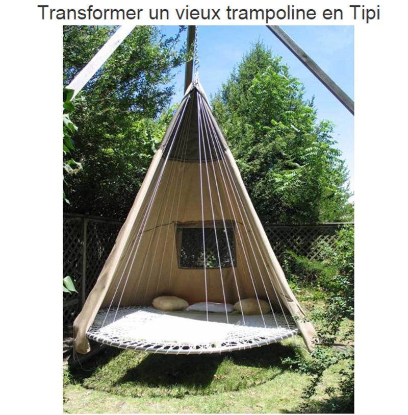 que faire d 39 un ancien trampoline. Black Bedroom Furniture Sets. Home Design Ideas