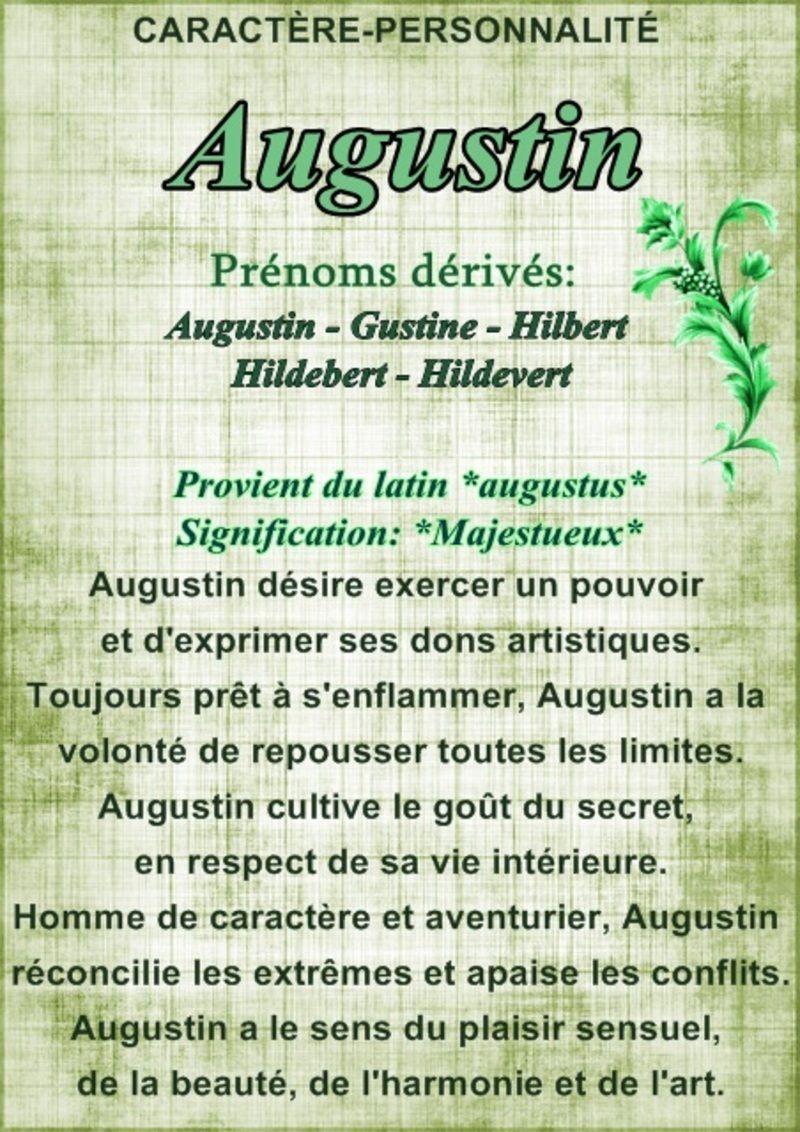 """"""" Prénom à Féter et Ephémérides du Jour """" - Page 22 Staugustin"""