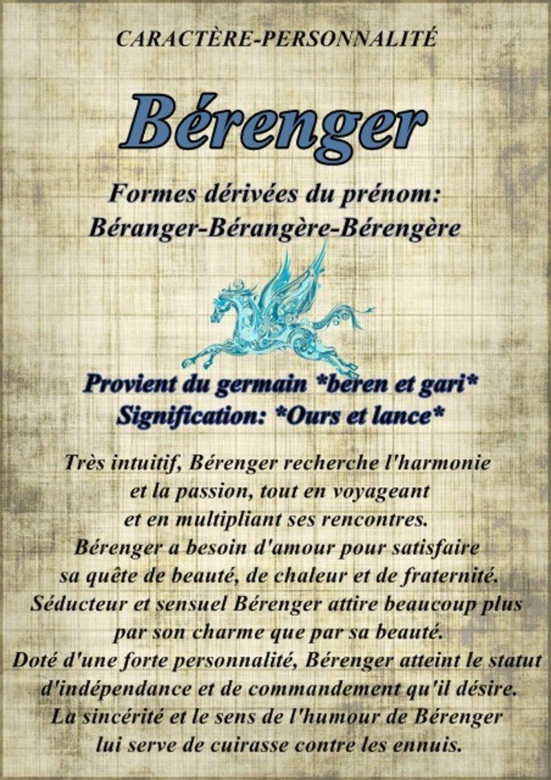 """"""" Prénom à Féter et Ephémérides du Jour """" - Page 22 Stberenger"""
